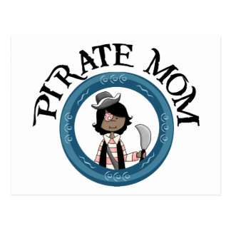 Mamá del pirata tarjeta postal
