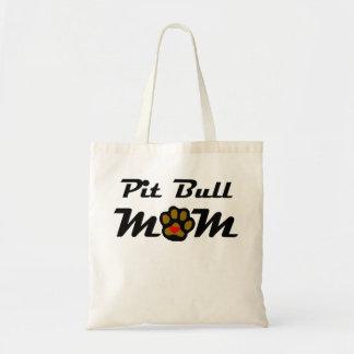 Mamá del pitbull bolsas de mano