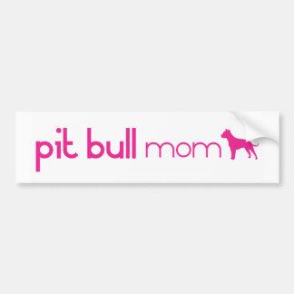 Mamá del pitbull pegatina de parachoque