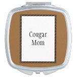 Mamá del puma espejo de maquillaje