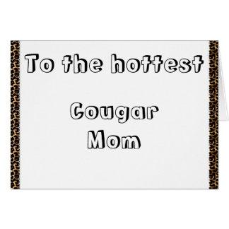 Mamá del puma tarjeta de felicitación