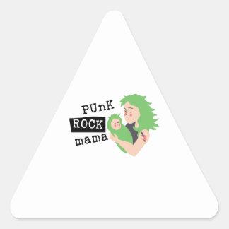 Mamá del punk rock calcomanías de trianguloes personalizadas