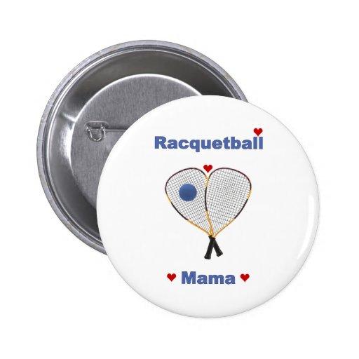 Mamá del Racquetball Pins