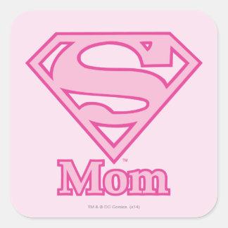 Mamá del S-Escudo Calcomanía Cuadradas Personalizadas
