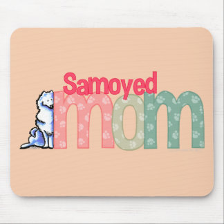 Mamá del samoyedo tapetes de ratón