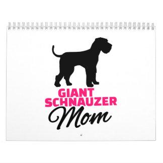 Mamá del Schnauzer gigante Calendarios