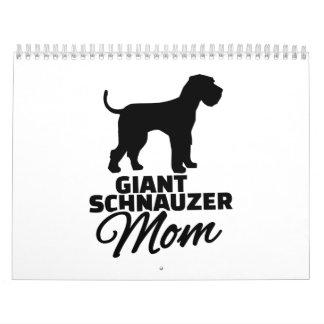 Mamá del Schnauzer gigante Calendarios De Pared
