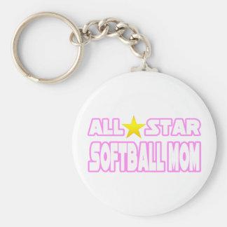Mamá del softball de All Star Llaveros Personalizados