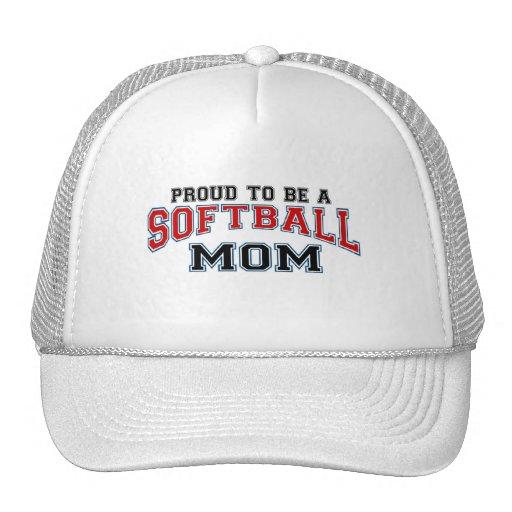 Mamá del softball gorras