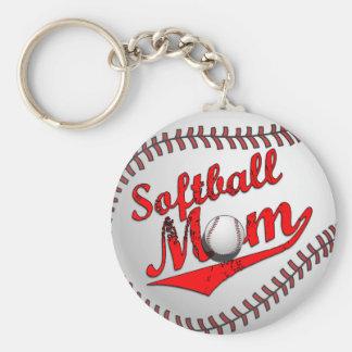 Mamá del softball llavero
