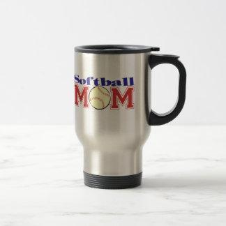 Mamá del softball taza de café