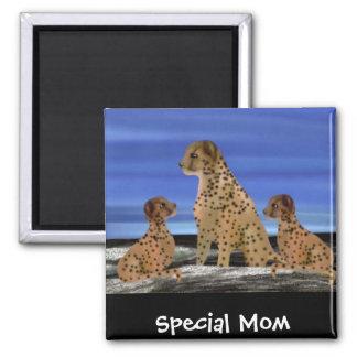 Mamá del Special de la familia del guepardo Imán Cuadrado