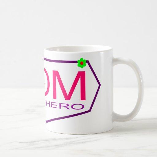 Mamá del super héroe taza