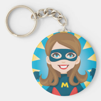 Mamá del superhéroe llavero personalizado