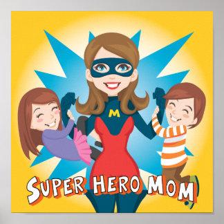 Mamá del superhéroe póster