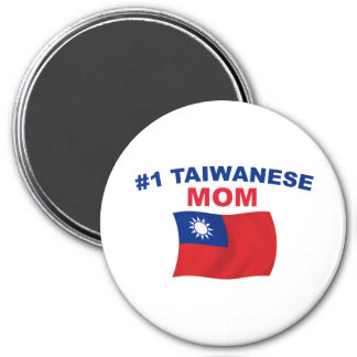 Mamá del taiwanés #1 imán redondo 7 cm