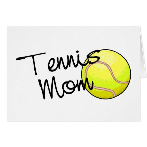 Mamá del tenis felicitación