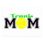 Mamá del tenis postales