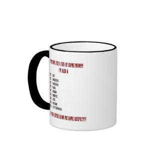 Mamá del trabajo en casa que dice la taza de café
