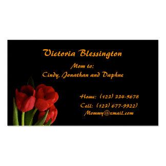 Mamá del tulipán plantillas de tarjetas personales