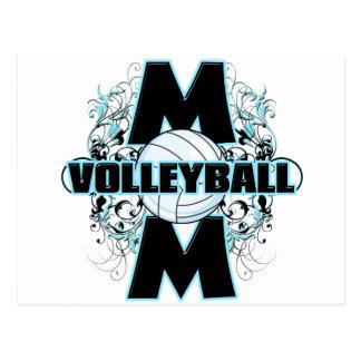 Mamá del voleibol (cruz) .png tarjetas postales