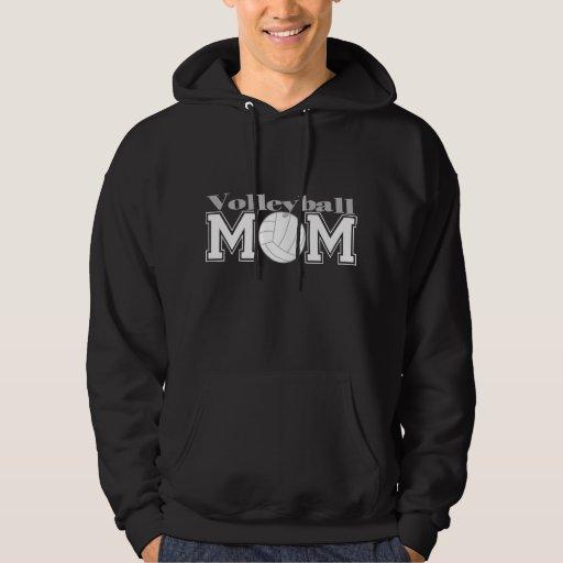 Mamá del voleibol suéter con capucha
