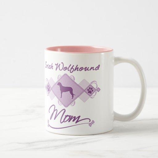 Mamá del Wolfhound irlandés Taza De Dos Tonos