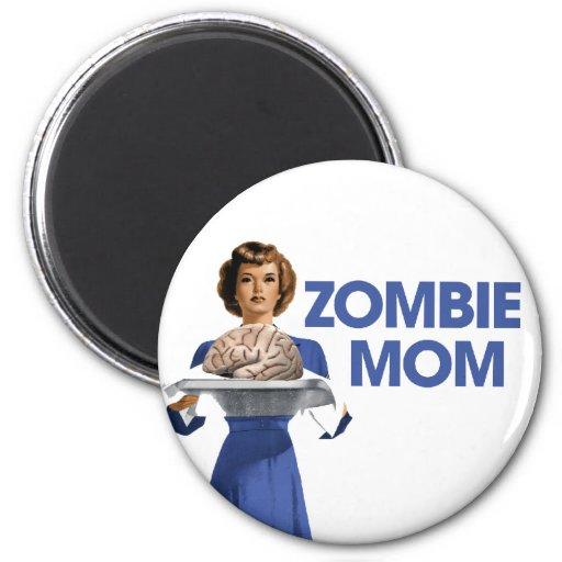 Mamá del zombi imán redondo 5 cm