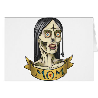 Mamá del zombi tarjeta de felicitación