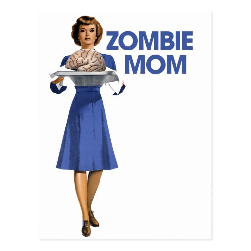 Mamá del zombi tarjetas postales