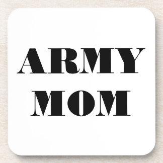 Mamá determinada del ejército del práctico de cost posavasos
