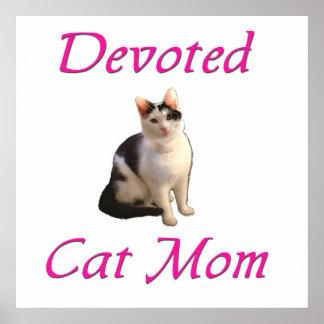 Mamá devota del gato posters