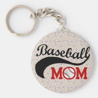 Mamá diaria del béisbol deportiva llaveros personalizados