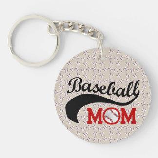 Mamá diaria del béisbol deportiva llaveros