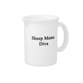 Mamá Diva de las ovejas Jarrones