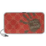 Mamá divertida, coral y remolino rojo portátil altavoz