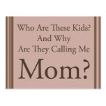 Mamá divertida tarjetas postales