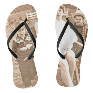 Mama Don't Let Your Babies Grow up to be Cowboys Flip Flops