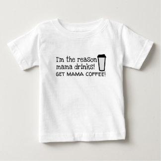 mama drinks coffee baby T-Shirt