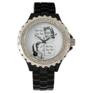 Mamá e hija retras reloj