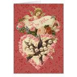 Mamá, el día de San Valentín feliz, ángel del vint Felicitación