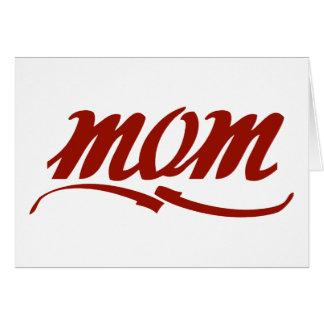 Mamá elegante tarjeta de felicitación