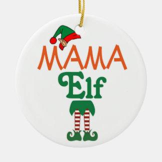 Mama Elf Ceramic Ornament