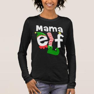 Mama Elf Christmas Long Sleeve T-Shirt
