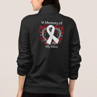 Mamá - en corazón del cáncer de pulmón de la chaqueta