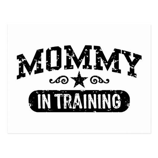 Mamá en el entrenamiento postales