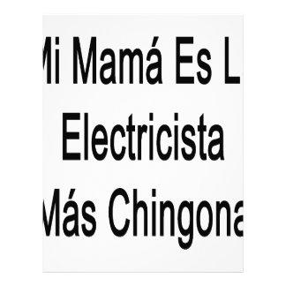 Mamá Es La Electricista Mas Chingona del MI Membretes Personalizados