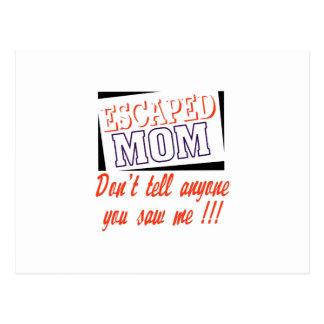 Mamá escapada tarjetas postales