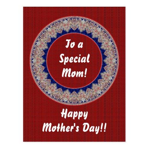 Mamá especial postal