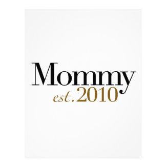 Mamá Est 2010 Membretes Personalizados